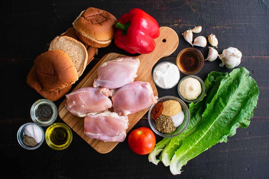 Nando's Portuguese Chicken Burgers Ingredients
