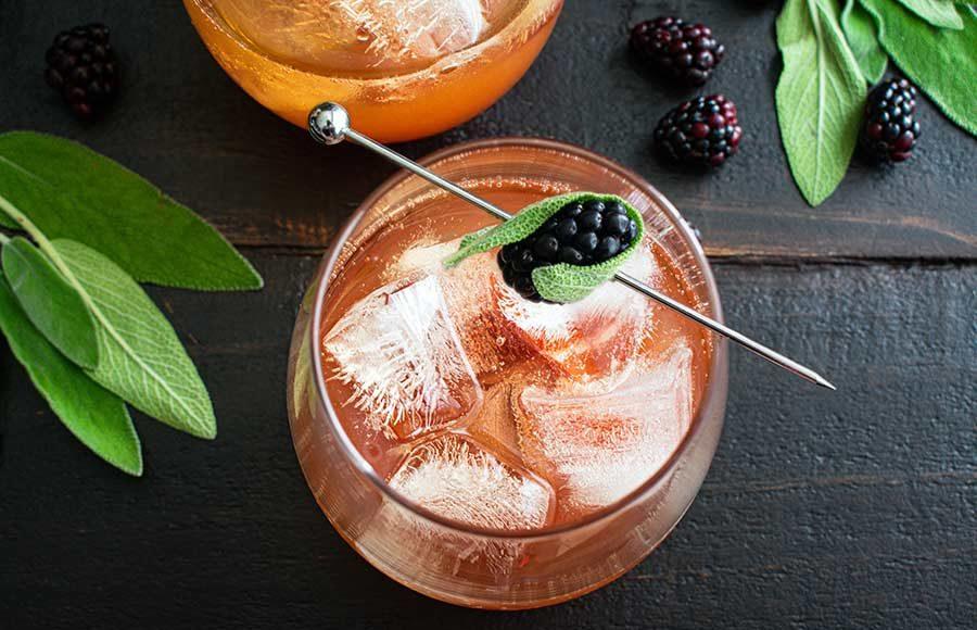 Sparkling Blackberry Tea Cocktail