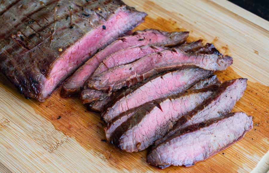 Bourbon Marinated Grilled Flank Steak