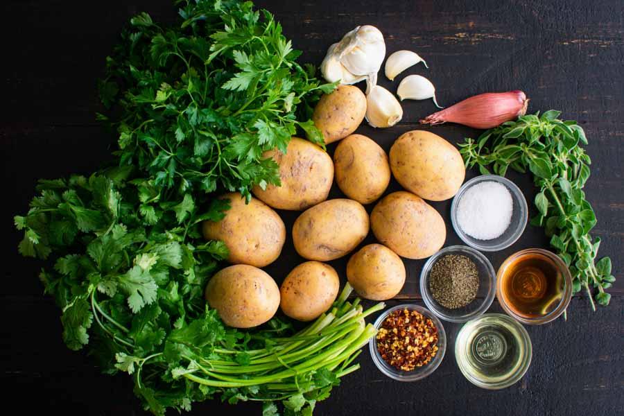 Chimichurri Potato Salad Ingredients