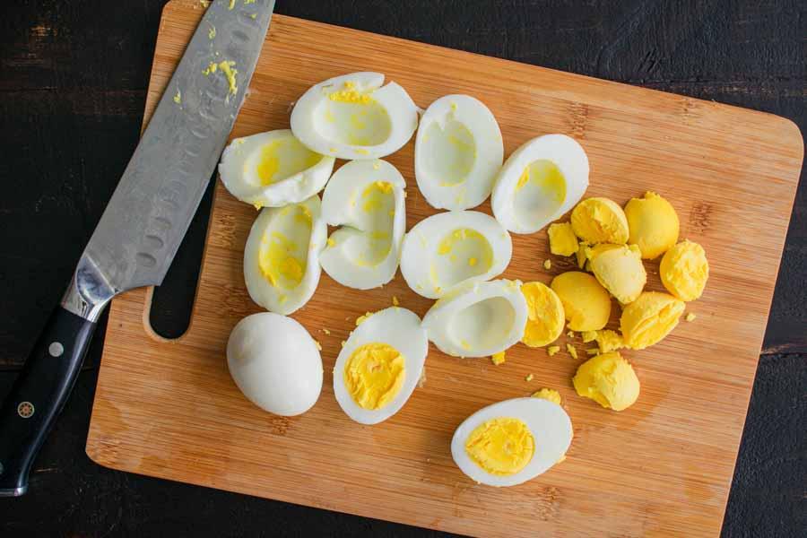 Removing the egg yolks