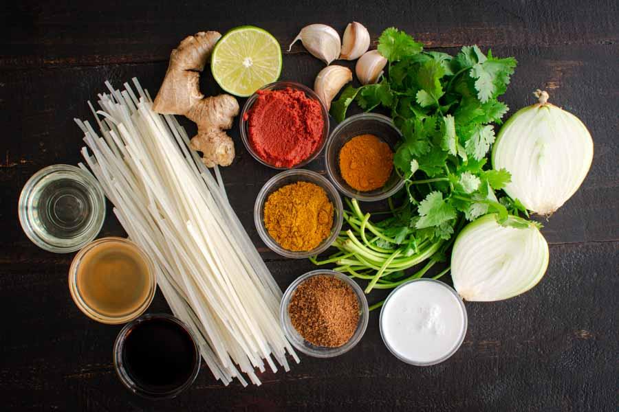 Northern-Style Vegan Thai Coconut Soup Ingredients