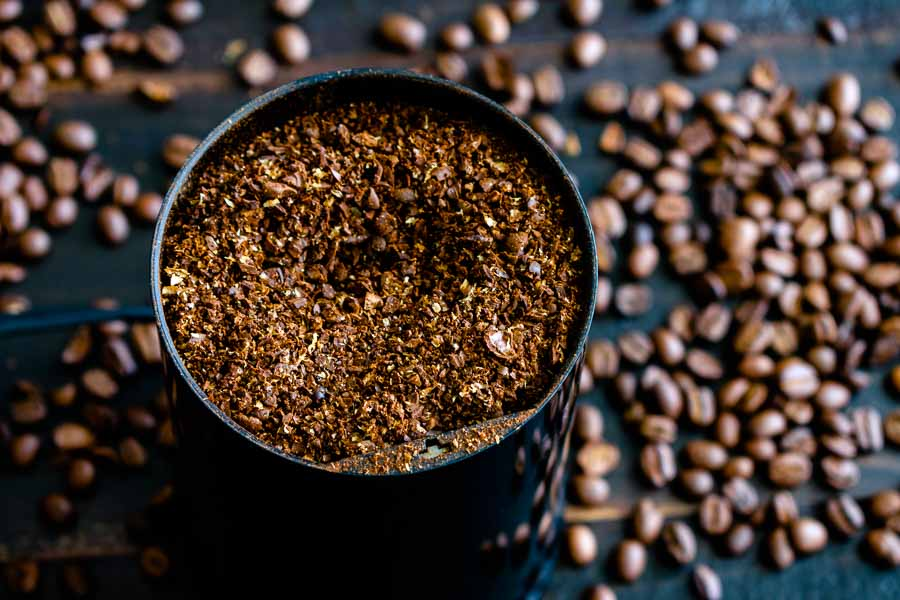 Coarsely ground coffee beans for making cold-brew coffee