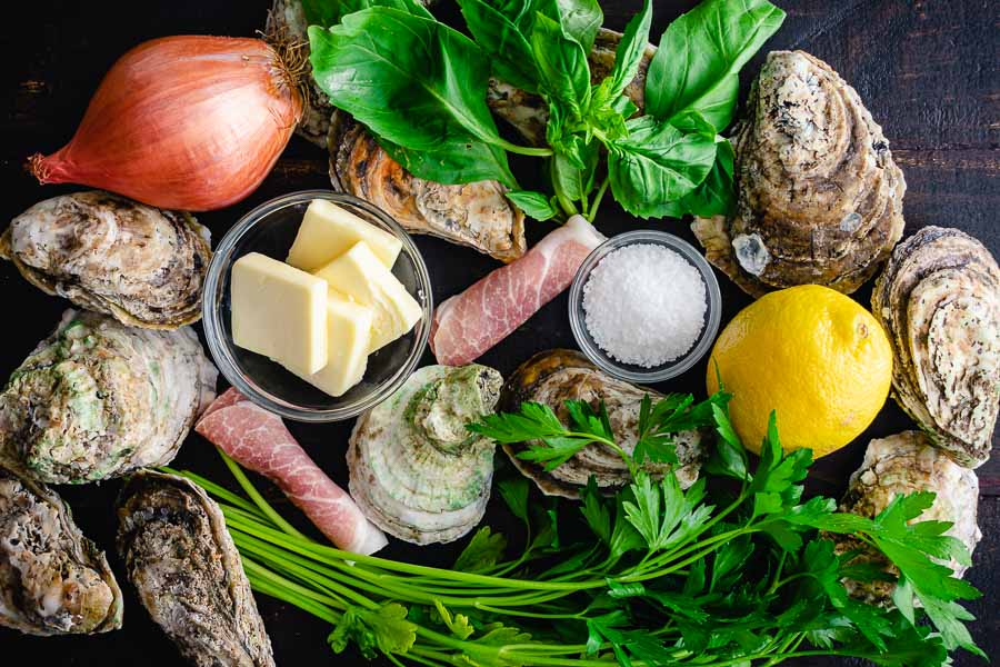 Herb Butter Oysters with Prosciutto Ingredients
