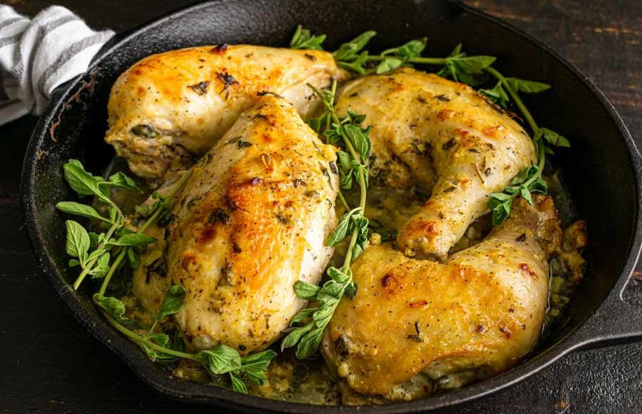 Oven-Roasted Greek Chicken Breasts