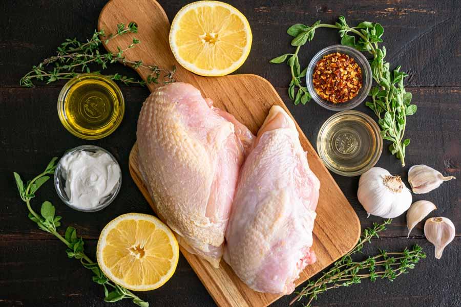 Oven-Roasted Greek Chicken Breasts Ingredients