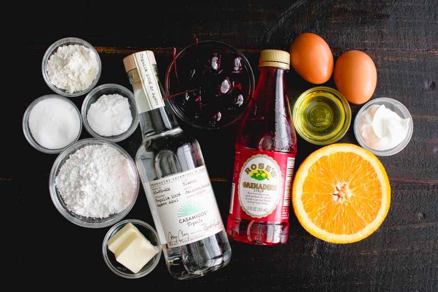 Tequila Sunrise Cupcakes Ingredients